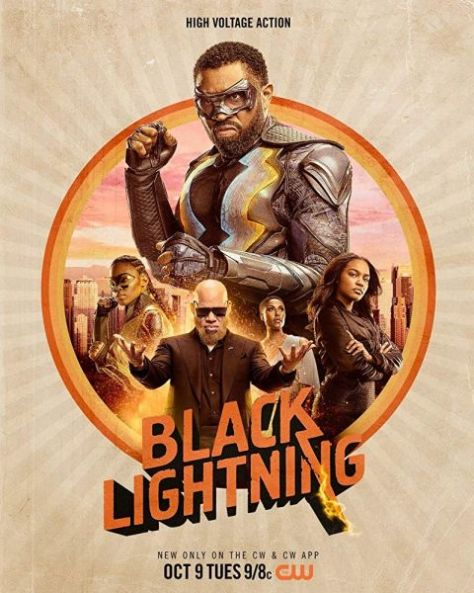 television posters, warner brothers television, black lightning