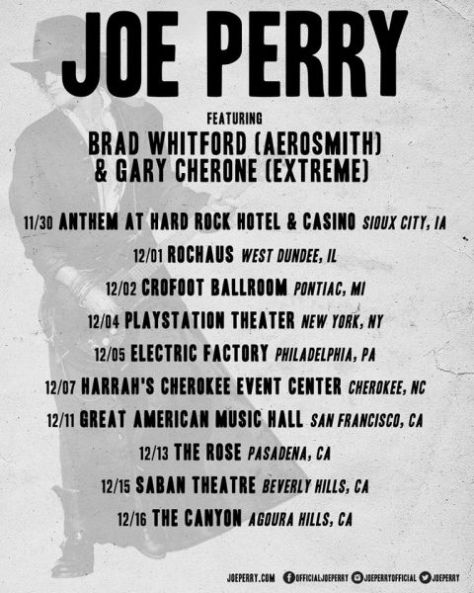 tour posters, joe perry, joe perry tour posters