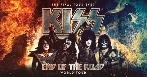 tour posters, kiss, kiss tour posters, end of the road world tour