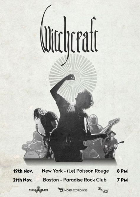 tour posters, witchcraft, witchcraft tour posters, nuclear blast records artists