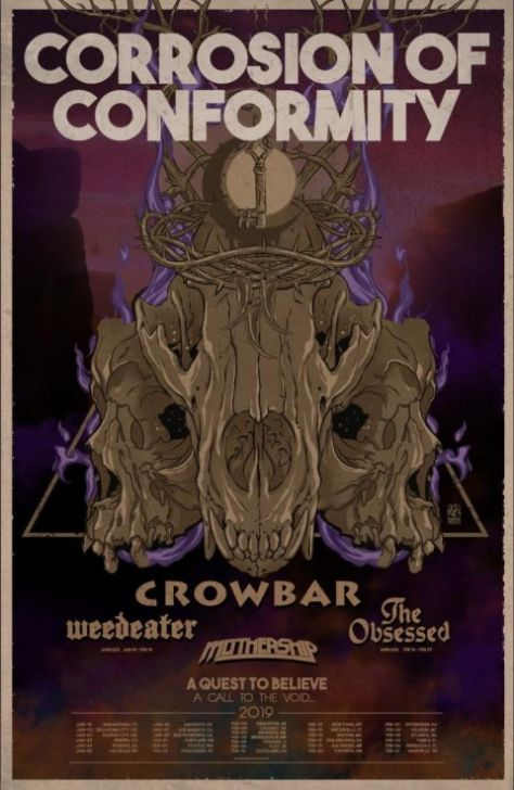 tour posters, corrosion of conformity, corrosion of conformity tour posters, nuclear blast records artists