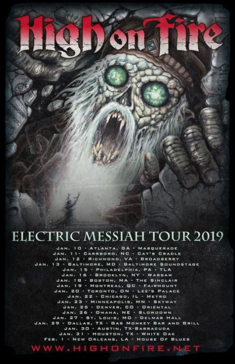 tour posters, high on fire, high on fire tour posters