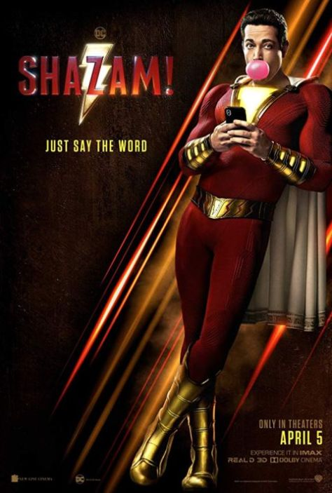 movie posters, promotional posters, warner brothers pictures, shazam
