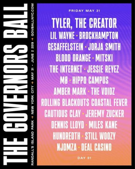 festival posters, governors ball music festival