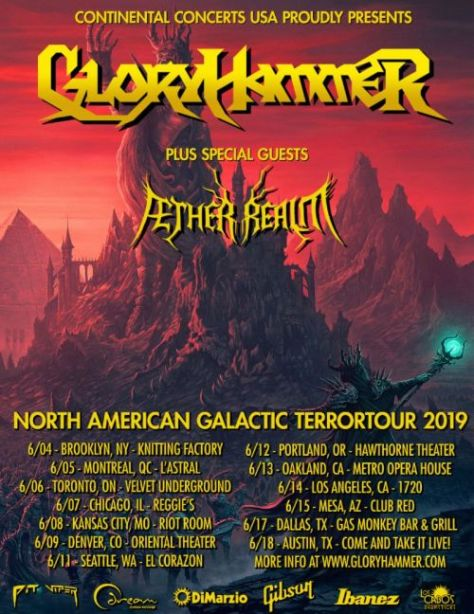 tour posters, gloryhammer, gloryhammer tour posters, napalm records artists