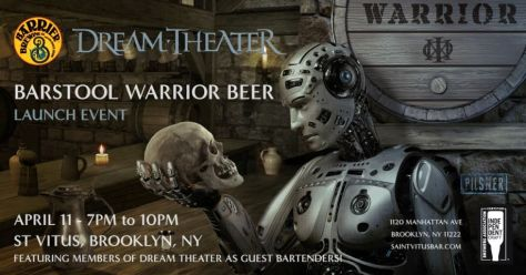 barstool warrior beer, saint vitus bar, dream theater