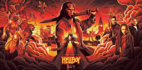 hellboy, promotional posters, movie posters, lionsgate films