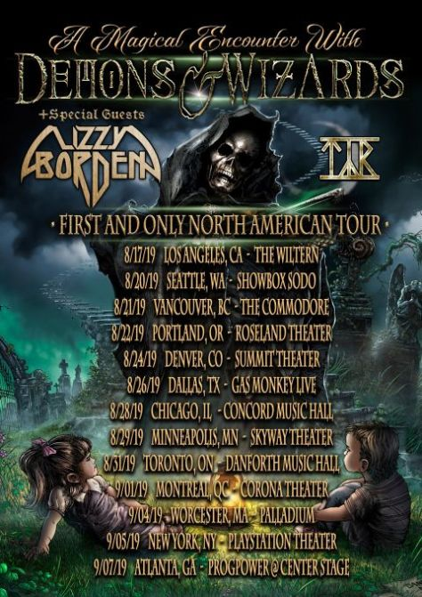 tour posters, demons and wizards, demons and wizards tour posters