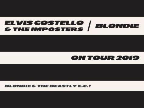 tour posters, elvis costello, blondie