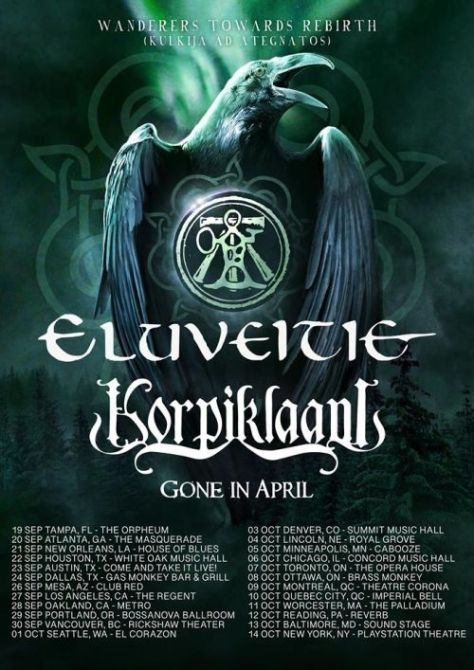 tour posters, nuclear blast records, eluveitie, korpiklaani
