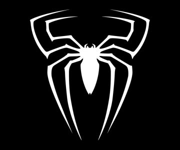 spider-man symbol black and white