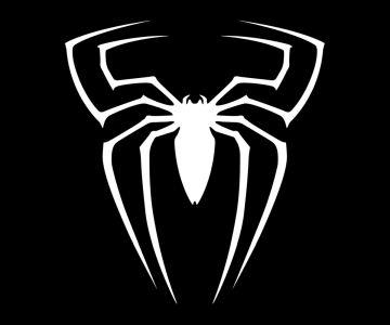 spider-man symbol black and white