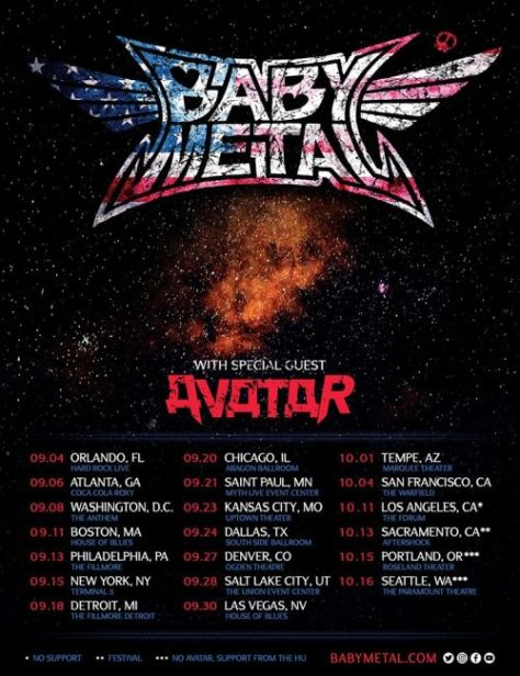 tour posters, babymetal, babymetal tour posters
