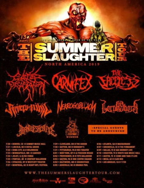 tour posters, summer slaughter tour, summer slaughter tour 2019