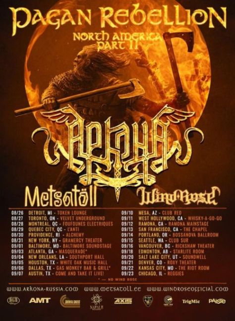 tour posters, napalm records artists, arkona, arkona tour posters