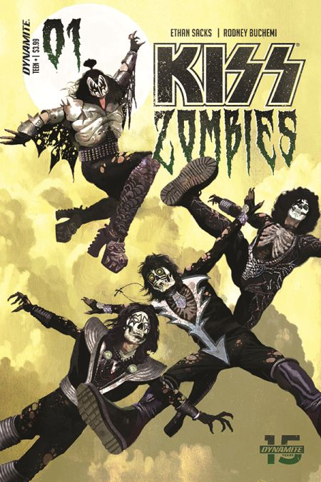 comic book covers, dynamite entertainment, kiss zombies