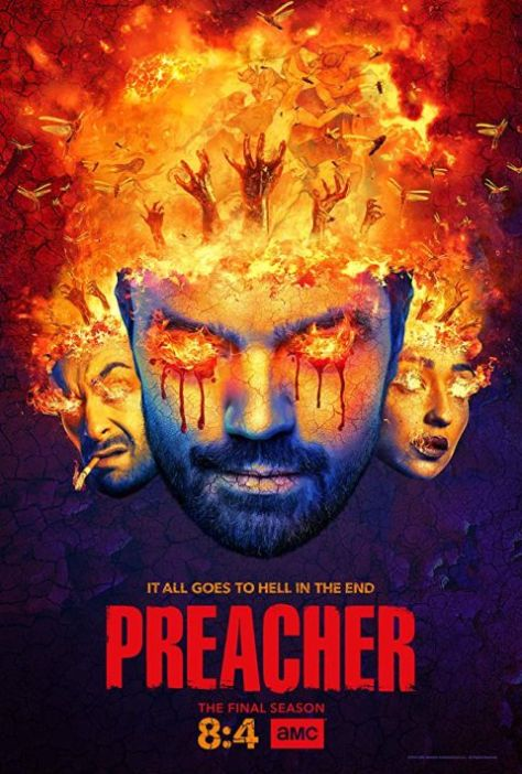 television posters, promotional posters, amc studios, preacher