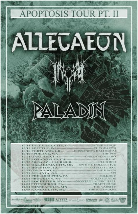 tour posters, allegaeon, allegaeon tour posters, metal blade records artists