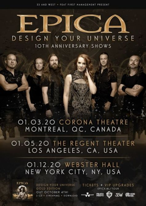 tour posters, nuclear blast records artists, epica, epica tour posters