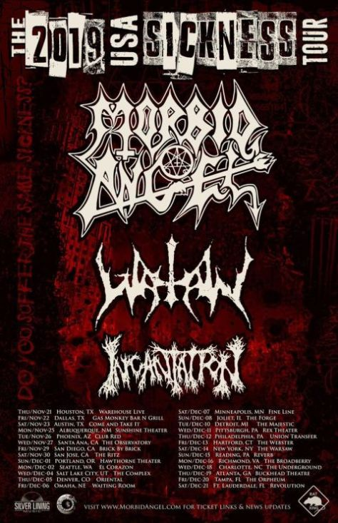 tour posters, morbid angel, morbid angel tour posters