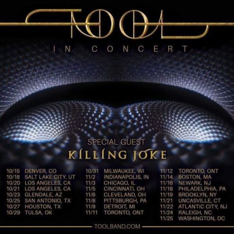 tour posters, tool, tool tour posters