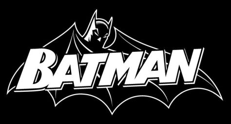 batman black and white logo, dc comics, dc entertainment