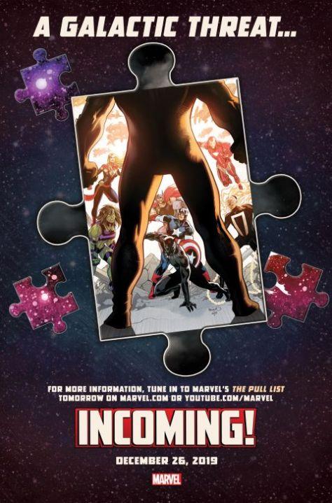 marvel comics, marvel entertainment, incoming, marvel teasers