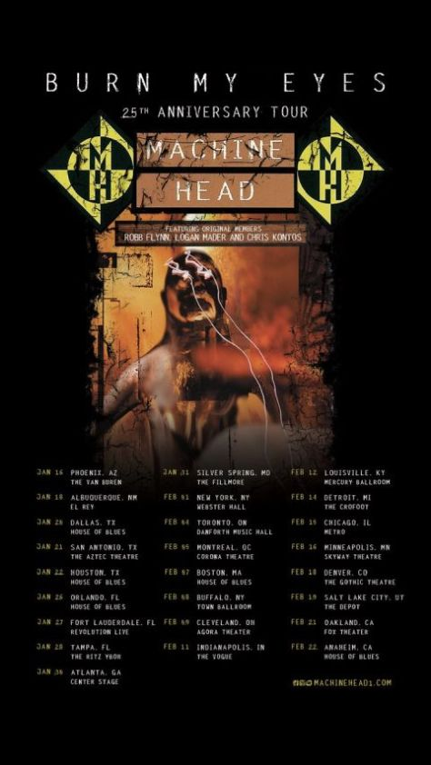 tour posters, nuclear blast records artists, machine head tour posters, machine head