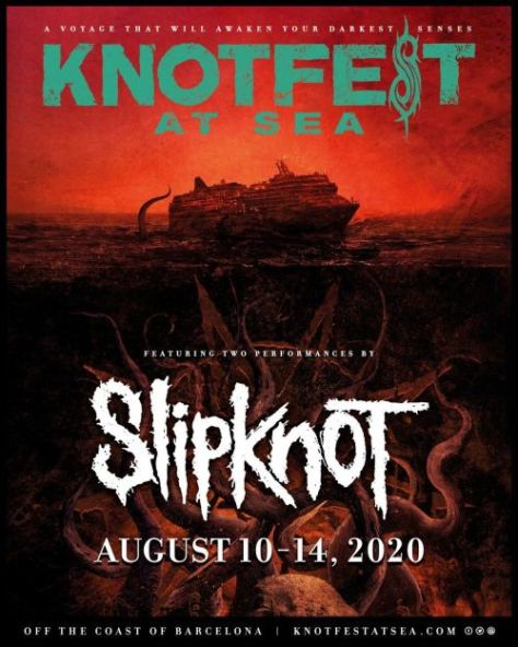 slipknot, knotfest, knotfest at sea