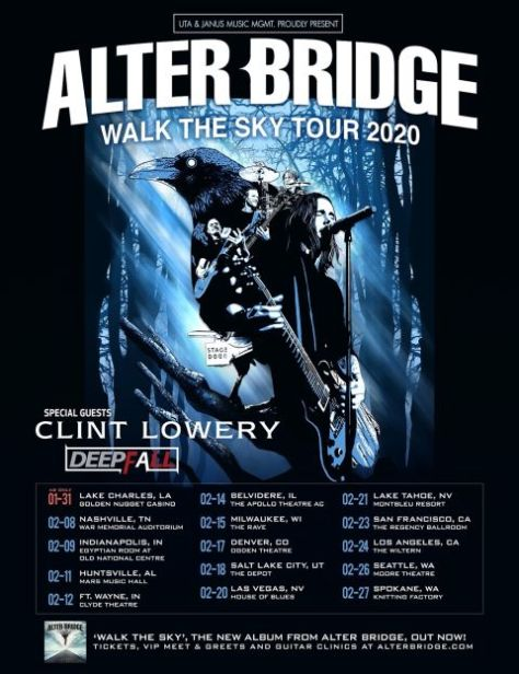 tour posters, promotional posters, alter bridge, alter bridge tour posters, napalm records artists