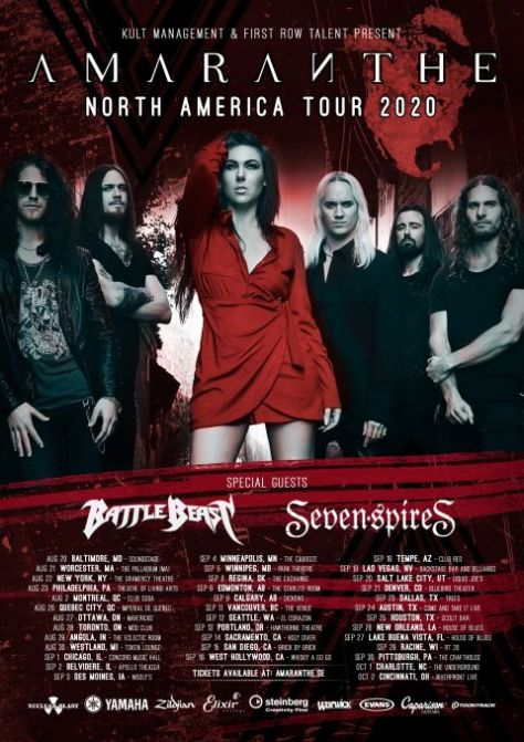 tour posters, amaranthe, amaranthe tour posters, nuclear blast records artists