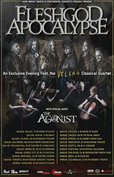 tour posters, fleshgod apocalype, fleshgod apocalypse tour posters, nuclear blast records artists