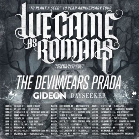 tour posters, we came as romans, we came as romans tour posters, sharptone records artists