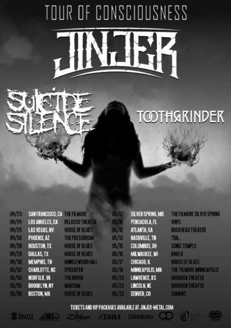 tour posters, jinjer, jinjer tour posters, napalm records artists