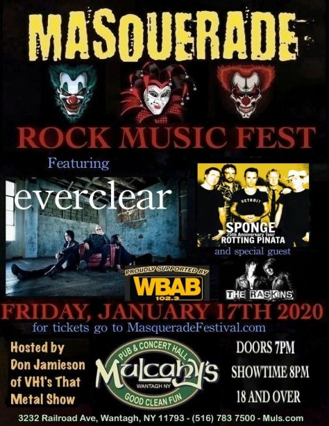 show posters, masquerade music fest