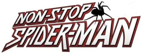non-stop spider-man comics logo, marvel comics, marvel entertainment
