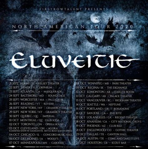 tour posters, eluveitie, eluveitie tour posters, nuclear blast records artists