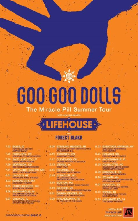 tour posters, goo goo dolls, goo goo dolls tour posters, warner records artists