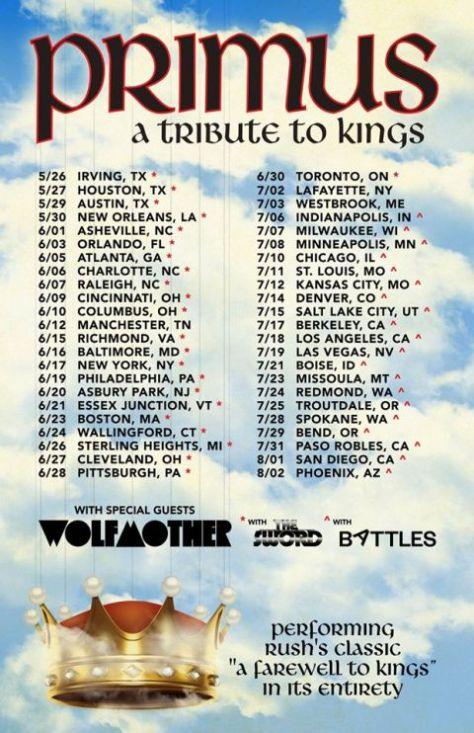 tour posters, primus, primus tour posters