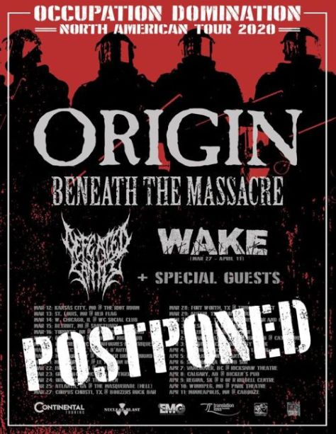 tour posters, origin, origin tour posters, nuclear blast records artists