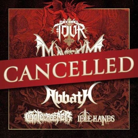 tour posters, decibel magazine tour 2020, the true mayhem, abbath