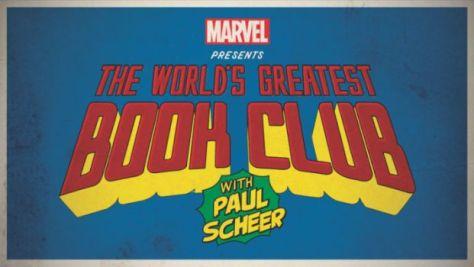 marvel presents the world's greatest book club logo