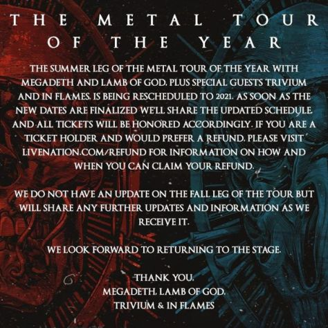 tour posters, megadeth, lamb of god, megadeth tour posters, lamb of god tour posters
