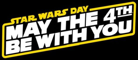 may the 4th be with you logo, star wars day logo
