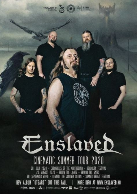 tour posters, enslaved, enslaved tour posters, nuclear blast records artists