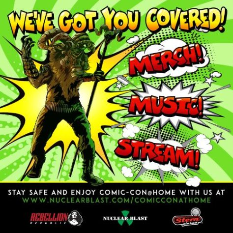 comic con at home 2020 exclusives, nuclear blast records