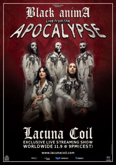 event posters, lacuna coil, lacuna coil event posters, century media records