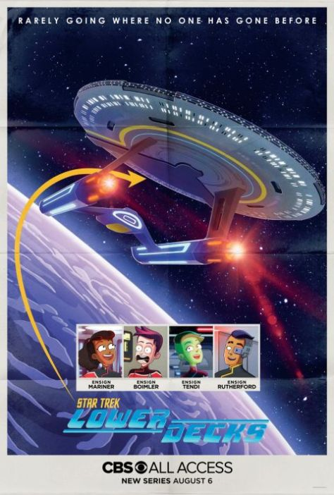 television posters, promotional posters, cbs all access, star trek, star trek lower decks