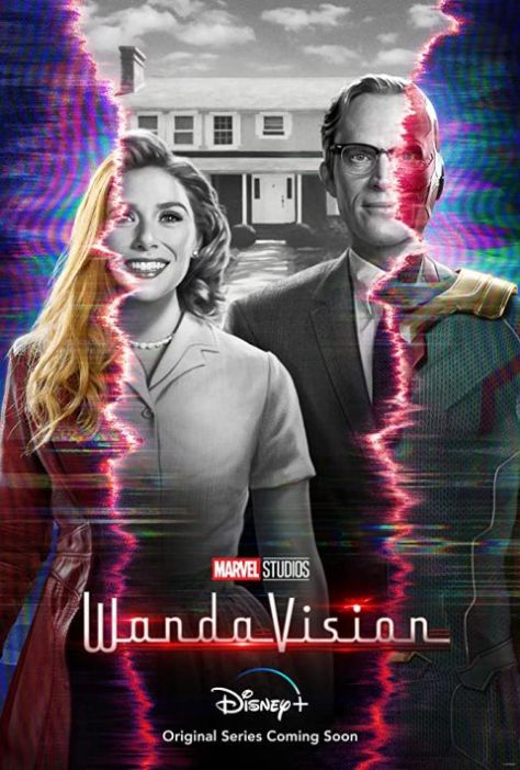 television posters, promotional posters, marvel studios, disney plus, wandavision, wandavision posters
