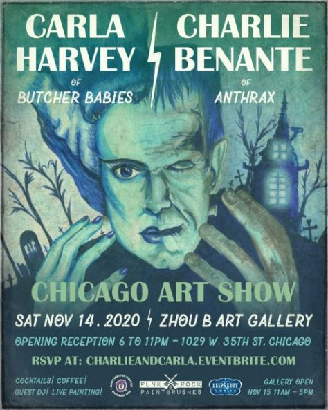 carla harvey, charlie benante, zhou b art gallery